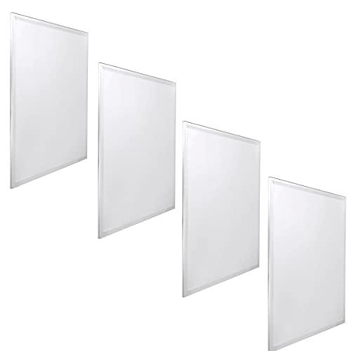 Jandei - 4x Panneau LED 60x60cm 48W 6000K rétroéclairé 3840 lum blanc blanc pour plaques de plafond type armstrong, hôtel, bureau, industrie