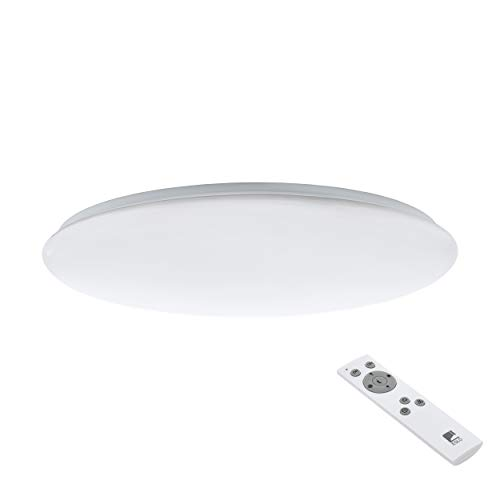 Preisvergleich Produktbild EGLO LED Deckenlampe Giron,  1 flammige Deckenleuchte,  Material: Stahl,  Kunststoff,  Farbe: weiß,  Ø: 76 cm,  dimmbar,  weißtöne per Fernbedienung einstellbar