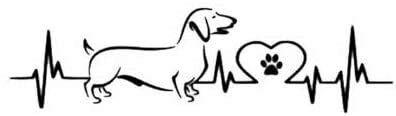 CZJMCT-DQ - Pegatinas de vinilo para coche (18 x 5 cm, 2 unidades), diseño de perro salchicha, color negro y plateado