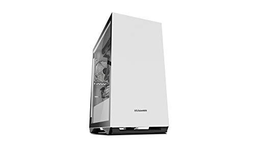 Nox Hummer Zero - NXHUMMERZERO - Caja PC, Mini-Torre, Diseño Minimalista, Cristal Templado, Color Blanco