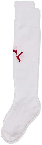 PUMA Erwachsene Team II Socks, white-Red, 1