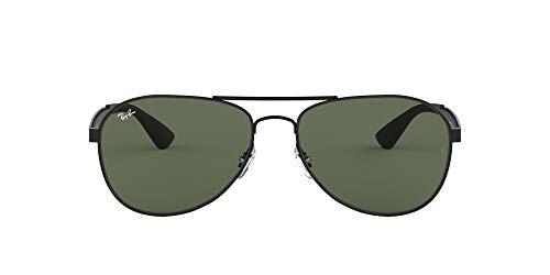 Ray-Ban Herren Rb 3549 Sonnenbrille, Schwarz (Negro Mate), 61