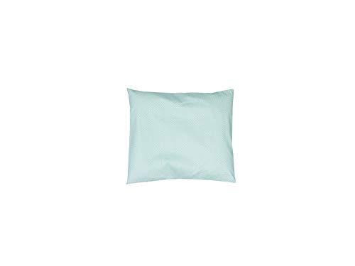 ULLENBOOM ® Baby Kissenbezug 35x40 cm Pfefferminz (Made in EU) - Kopfkissenbezug aus 100% OEKO-TEX ® Baumwolle, bequeme Kissenhülle für Baby Kissen, Motiv: Punkte