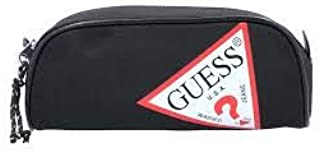 Guess - Estuche con logo, color Negro: Amazon.es: Oficina y papelería