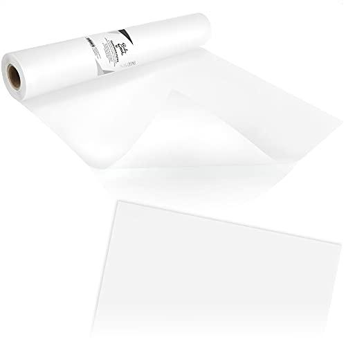 Robin Goods® Transparentpapier Rolle 40cm x 50m | Skizzenpapier Rolle | Schnittmusterpapier Rolle | Transparentes Architektenpapier | Pauspapier, Tracing Paper 50g/m² (Rolle - transparent)