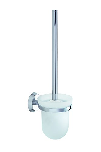 VIGOUR Clivia, WC- Bürstengarnitur, wandhängend, mit Bürste und Glaseinsatz satiniert