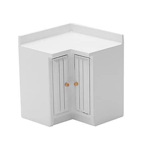 SupremeLife 1/12 Scale Miniature Kitchen Cabinet Set Dollhouse Furniture Realistic Kitchen Furniture Girls Toy Interactive DIY Kit
