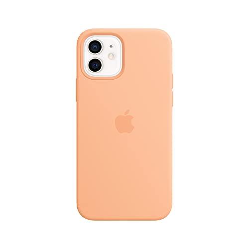 Apple SilikonHülle mit MagSafe (für iPhone 12 | 12 Pro) - Cantaloupe