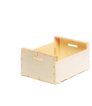 Caja de madera de contrachapado especial para almacenar fruta, verdura, cítricos y hortalizas, fabricadas en España (pequeña, madera)