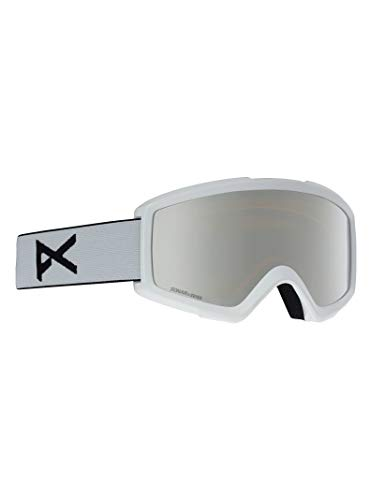Anon Helix 2 with Spare Masques de Snowboard Homme, White/Sonar Silver