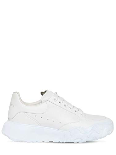 Alexander McQueen White Court Sneakers New/Authentic (37.5, Numeric_7_Point_5)
