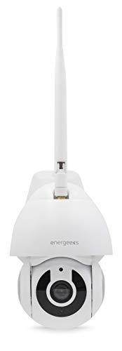 Energeeks Cámara IP WiFi motorizada Exterior 1080p Defender, Blanco