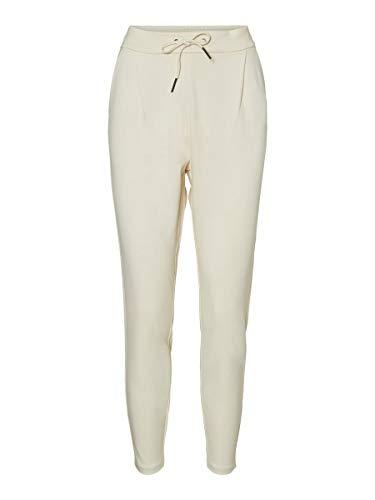 Vero Moda VMEVA MR Loose String Pant GA Color Pantalones Deportivos, Abedul, L para Mujer