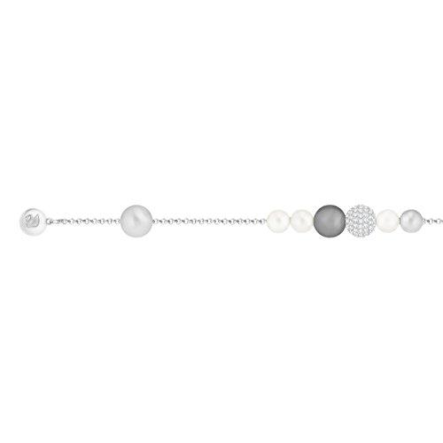 Swarovski Remix Collection Pearl Strand, Grigio, Placcatura Rodio