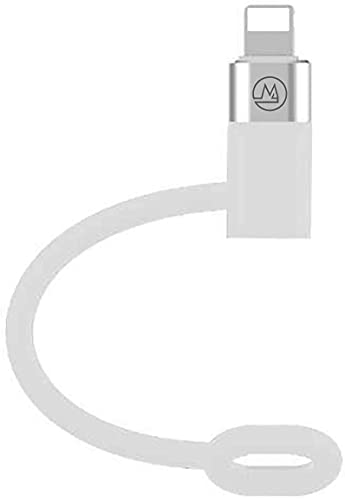 Maogoam Adaptador USB C a Lightning, [Tipo C hembra a Lightning macho] [Compatible con PD 20W] [Compatible con iPhone 12, iPad Pro] [Se adapta al adaptador de cargador USB C de MacBook original]