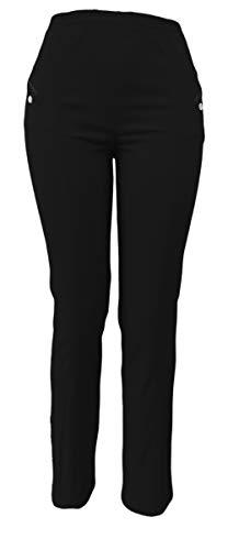 sockenhimmel Thermohose Damen - Winterhose - Outdoor- Funktionshose mit Stretch Innenfutter aus Mikrofleece (50-52, Schwarz)