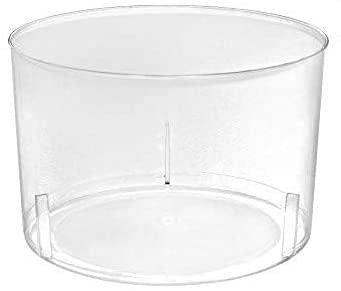 ACESA- 500ud - Vaso Vino Chikito 220 ml - Plástico cristalino (PS) - Color Transparente - Ideal para Vino, Cerveza, Aperitivos, gazpacho, cremas, postres