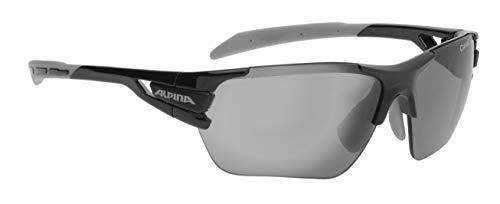 ALPINA TRI-SCRAY S Sportbrille, Unisex– Erwachsene, black-grey, one size