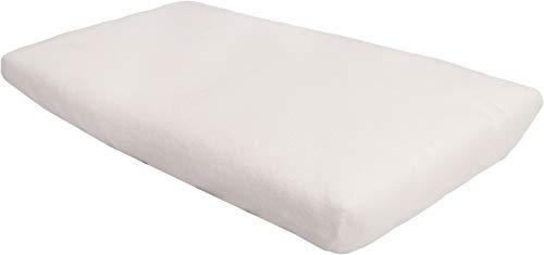 Blush & Blossom Molton Kinderbett Spannlaken 40 x 80 cm, aus 100% Baumwolle Weiß...
