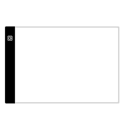 Walmeck Tablero de dibujo de luz LED Tableta gráfica digital para dibujar electrónica Escritura USB Pintura Arte Tablero de copia gráfica