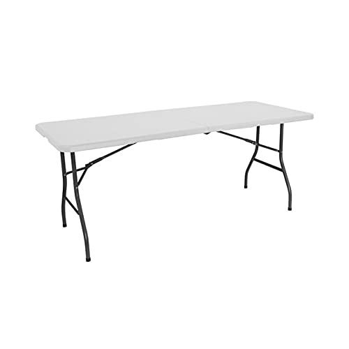 Mesa plegable rectangular, 180 cm, blanco