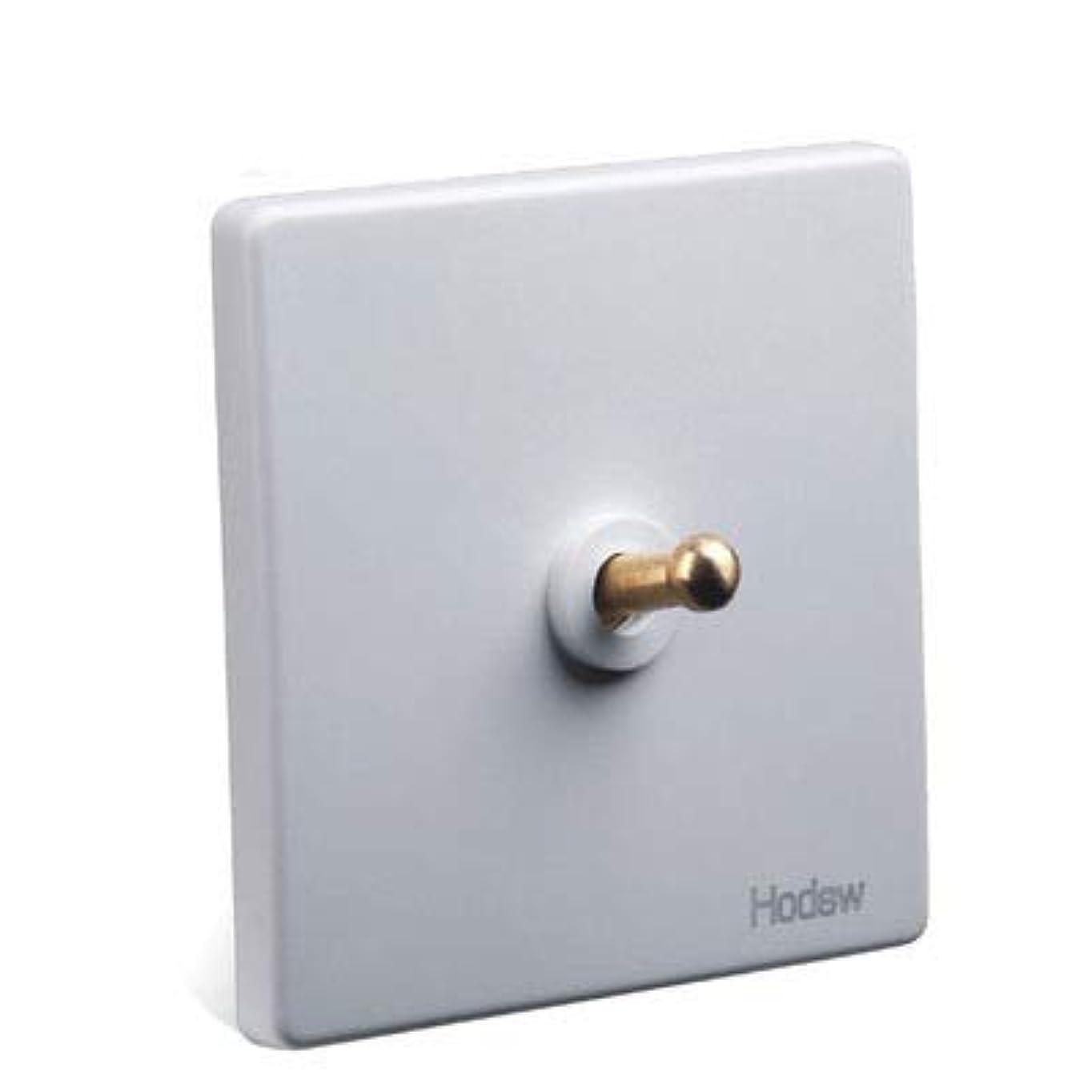 削減セイはさておき考古学者1-4ギャングホワイトトグルランプスイッチアウトレット真鍮レバーシングルデュアルコントロールレトロライトスイッチ壁電源ソケットパネルセット (Color : TV Socket)