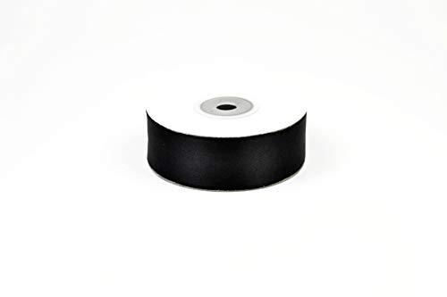 Creativery 25m Rolle Satinband 25mm // Schleifenband Satin Deko Band Geschenkband Dekoband Dekoration Hochzeit Taufe, Farbe: schwarz 030