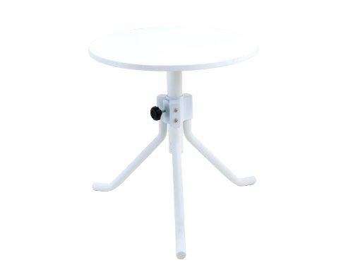 Leitmotiv LM757 Table Lator Mat Plateau MDF Box32 Design Hauteur: 55 cm Diamètre: 46 cm Blanc
