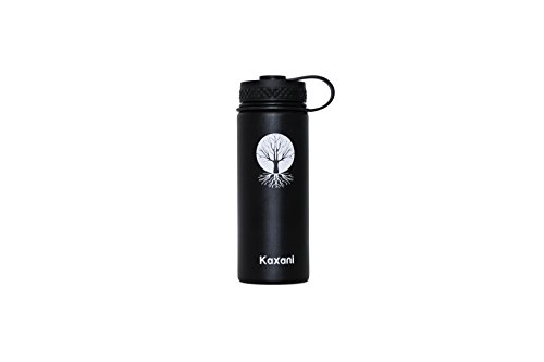 Kaxani - Double Wall Vacuum Insulated Thermal Flask Stainless Steel BPA Free Wide Mouth