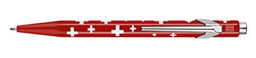 Caran d'Ache Totally Swiss - Bolígrafo metálico con funda (diseño con la bandera suiza)