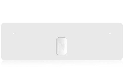 RGTech Monarch 40 Blanco - Antena Interior - Rango de recepción de 40 Millas - Plana, Delgada como un Papel - Multi direccional Antena HDTV para una máxima recepción TDT/UHF/VHF/FM/Dab/DVB-T/DVB-T2