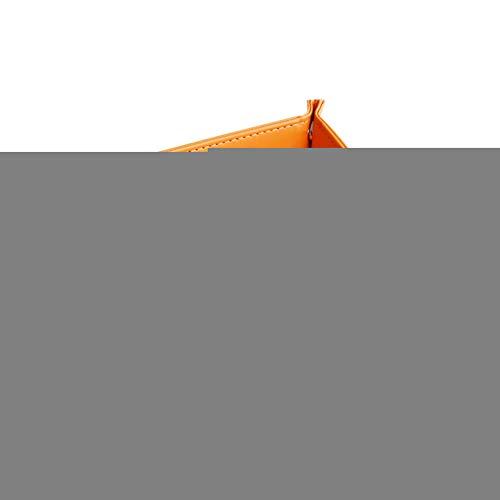periwinkLuQ Tragbare Würfel-Ablage, faltbare Aufbewahrungsbox aus Kunstleder, Würfel-Tisch, Spiel, Schlüssel, Münzfach, Organizer Orange