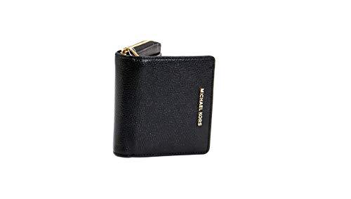 MICHAEL KORS Hammered leather gold tone logo wallet