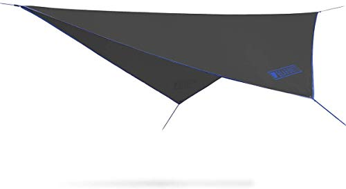 Bear Butt Rain Fly Easy Set Up Portable Hammock Tarp Shelter - Made of Quality Lightweight Waterproof Tent Polyester - Perfect Cover While Backpacking Outdoors Camping and Hiking (Blue)