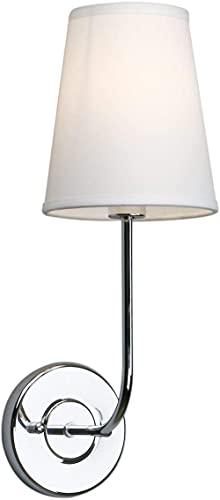CYGGBF Lámparas de Pared de Pantalla de Tela Blanca Modernas Vintage de iluminación, al Lado de los Apliques de Pared, Luces para Sala de Estar, Dormitorio, Pasillo, Tornillo E14