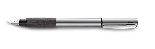 Lamy 1226185 Füllfederhalter M Modell accent Al 096 KW, silber/braun