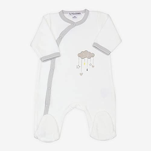 Kinousses - Pyjama Bébé Naissance - Motif Nuage d'Amour - Taille 1 Mois (54cm) - Cadeau Mixte Garçon et Fille