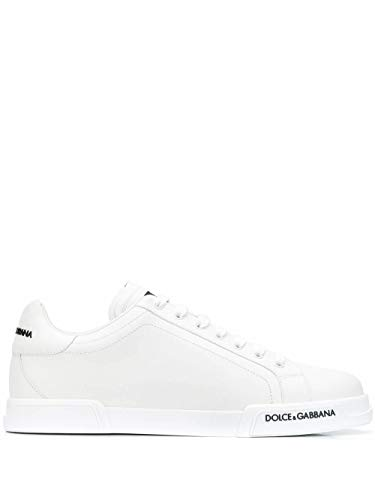 Moda Dolce E Gabbana Hombre CS1774AA33580001 Blanco Cuero Zapatillas | Otoño-Invierno 20