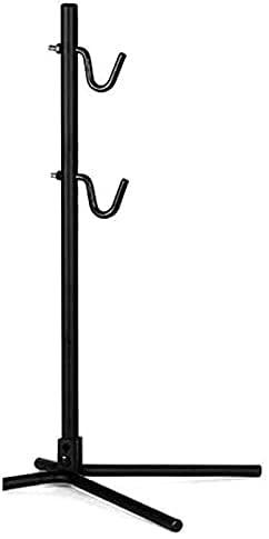UKJRETU Bike Maintenance Stand Mountain Bicycle Parking Racks Bike Display Stand Kickstand Repair Rack Holder Folding Bike Staging Bike Stand for Maintenance (Color : Black Bike Stand)
