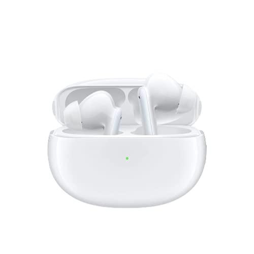 OPPO Enco X - Auricolari True Wireless, Qualità Dynaudio, Ricarica Wireless, Bluetooth 5.2, 3 Microfoni, Controlli Touch, Cancellazione del rumore, Android e iOS, IP54, Bianco [Versione Italiana]