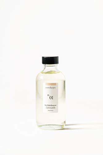 Sundays Non-Toxic Soy Nail Polish Remover Pr.01: Non-Acetone, Moisturizing, Vegan & Cruelty-Free, 8 oz