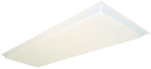 Lithonia Lighting D15SBDDROP Dropped Acrylic Diffuser, 48-Inch by 16-Inch by 1.25-Inch Height, White