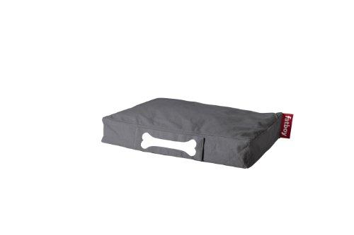 Fatboy® Doggielounge Stonewashed Small grau | Kleines Baumwolle-Hundekissen | Abwaschbares Hundebett für kleine Hunde | 60 x 80 x 15 cm