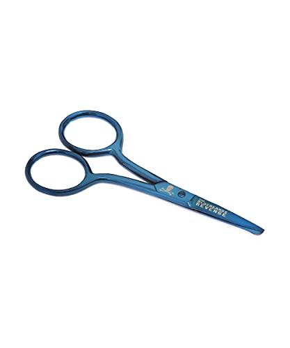 The Bluebeards Revenge, Beard and Moustache Scissors In Metallic Blue, For...