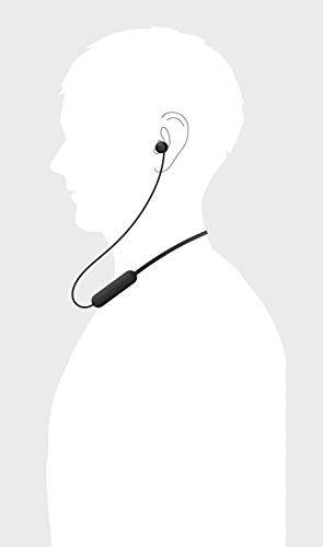 Sony WI-C200 Wireless in-Ear Headset/Headphones with mic for Phone Call, Black (WIC200/B) 4