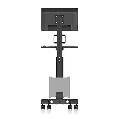 Soporte monitor doble Carrito móvil de monitor único 17 '-32' Soporte de monitor de pie Soporte de TV LCD soporte de montaje de monitor ajustable altura con teclado y soporte de host Supervisión del s
