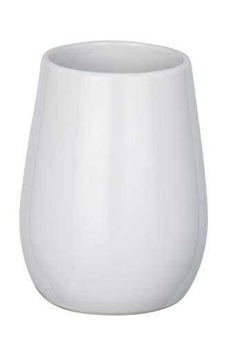 WENKO Zahnputzbecher Sydney Weiß Glänzend