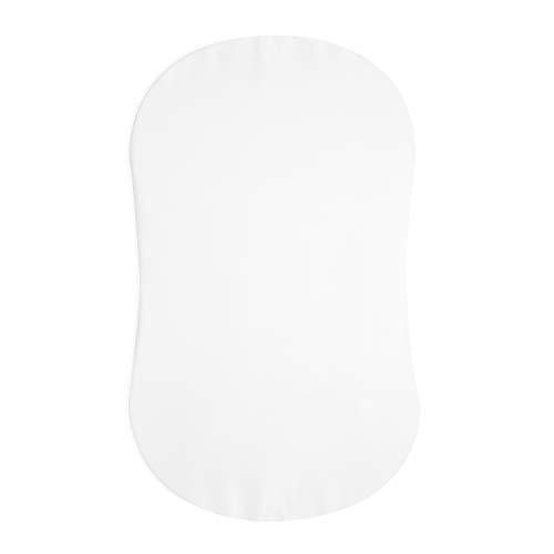 HALO Sleep BassiNest Lenzuolo con angoli, 100% cotone, per materasso Halo, motivo a clessidra, bianco
