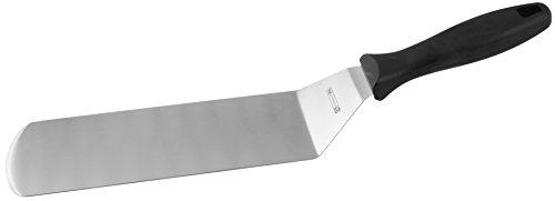 FMprofessional Bratenwender CHEF, hochwertiger Fleischwender mit Funktionsteil aus Edelstahl, robuster Pfannenwender zum Wenden von Bratgut (Farbe: Schwarz/Silber), Menge 1 Stück