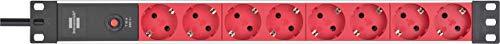 Brennenstuhl regleta enchufes Alu-Line 19 pulgadas para armario rack con 8 tomas de corriente y clavija IEC (unidad de… 2
